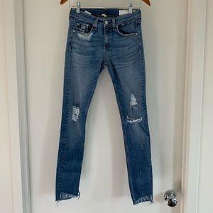 RAG & BONE Distressed Skinny Jean